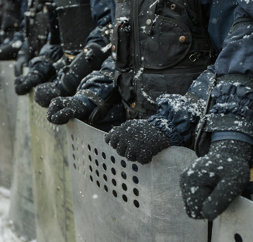 Police on Maidan square, December 2013 © maksymenko.com.ua