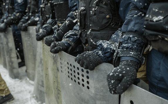 Police on Maidan square, December 2013 © maksymenko.com.ua