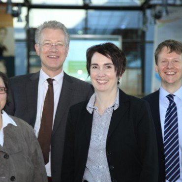The BTI team: Sabine Donner, Hauke Hartmann, Sabine Steinkamp & Robert Schwarz (from left to right) © Bock & Gärtner