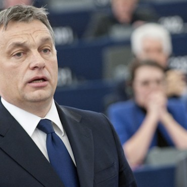 Victor Orban during a debate in the European Parliament on the political situation in Hungary, January 2012 © European Union 2012 EP/Pietro Naj-Oleari