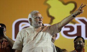 Narendra Modi addresses victory rally in Ahmedabad © Narendra Modi via Flickr (CC BY-SA 2.0)