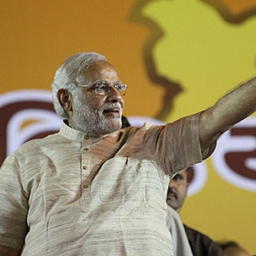 Narendra Modi addresses victory rally in Ahmedabad © Narendra Modi via Flickr (CC BY-SA 2.0)