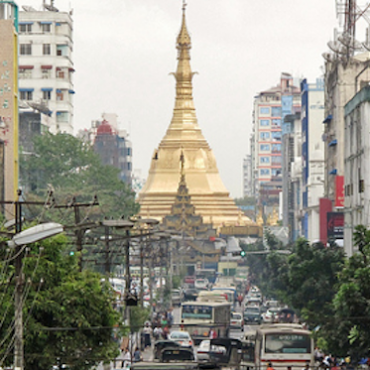 The centre of Yangon, Myanmar's largest city © Francisco Anzola via Flickr (CC BY 2.0)
