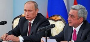 Vladimir Putin and the Armenian president Serzh Sargsyan, December 2013 © The Presidential Press and Information Office
