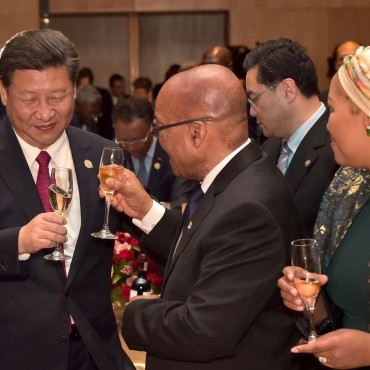 President of South Africa Jacob Zuma and President of China Xi Jinping at the Forum on China-Africa Cooperation (FOCAC) in Sandton, Johannesburg