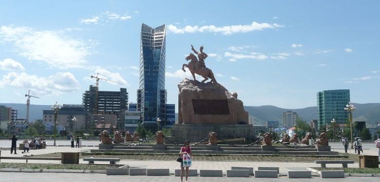 Sükhbaatar Square in Ulaanbaatar.