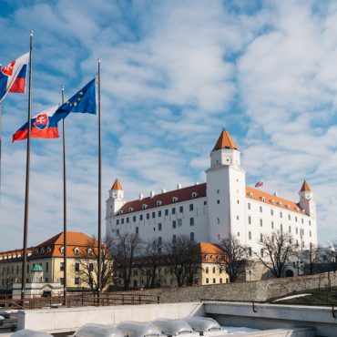 View on the fortress of the Slovak capital Bratislava