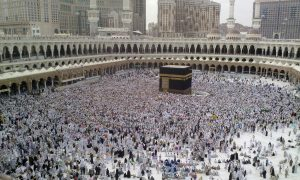 A Last day of Hajj - all pilgrims leaving Mina, many already in Mecca for farewell circumambulation of Kaaba