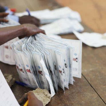 Presidential ballots after counting