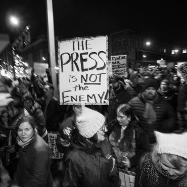 Resist Trump Ralley, January 30, 2017. By Joe Crimmings via flickr.com. CC-BY-2.0